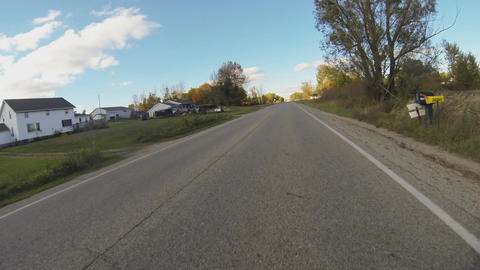 Motorcycle Rider POV in Fall Season (Version 2) Animation