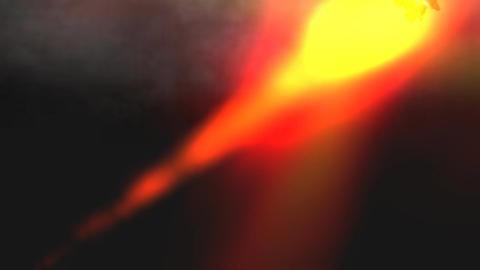 Saturn Rocket Through Clouds: Version #2 Animation