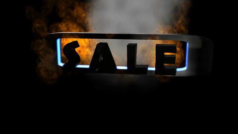 """Fiery Letters: """"Sale"""" (Looping) Animation"""