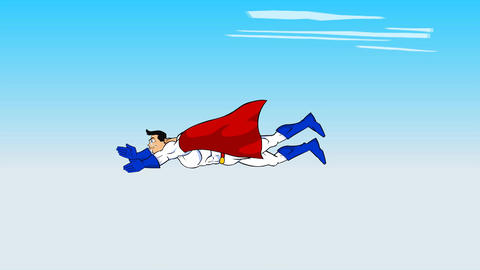 Super Hero Flying: Looping Animation