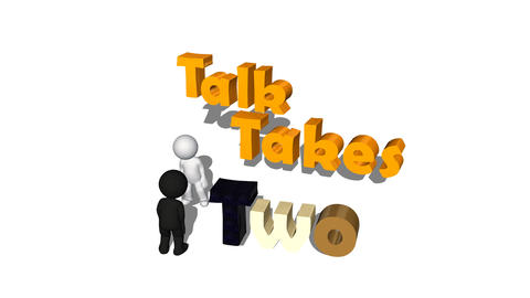 """Talk Takes Two"", Racial Harmony Animation stock footage"