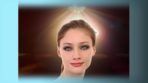Virtual Woman Model, Posing stock footage