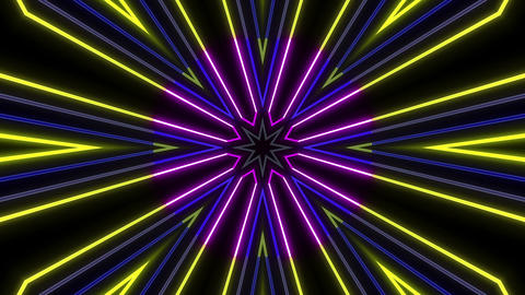 Neon tube Kaleid b B 1 HD Animation