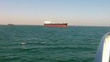 Petro Chemical Ship In Long Beach CA Harbor stock footage