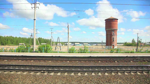 Russian Railway stock footage