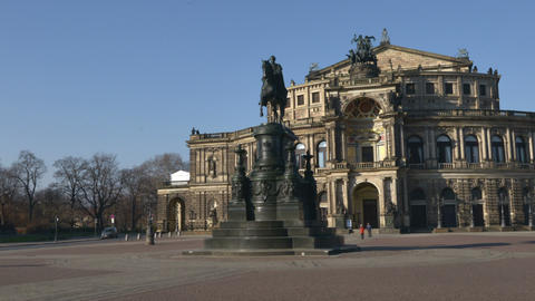Germany Dresden Semperoper Hyper Time Lapse 11294 stock footage