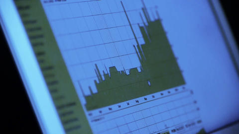 research the business data chart from web,computer show financial digital Animation