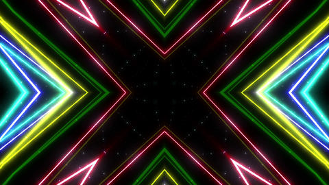 Neon tube Kaleidoscope b A 2h HD Animation