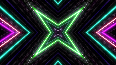 Neon tube Kaleidoscope b B 2h HD Animation