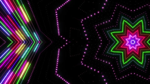 Neon tube Kaleidoscope b C 2r HD Animation