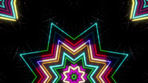 Neon tube Kaleidoscope b E 2b HD Animation