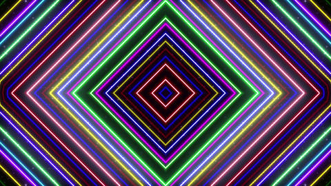 Neon tube Kaleidoscope b E 2h HD Animation
