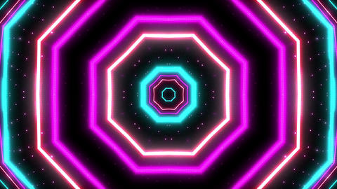 Neon tube Kaleidoscope c A 2h HD Animation