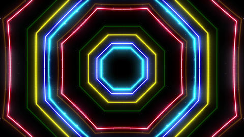 Neon tube Kaleidoscope c B 2h HD Animation
