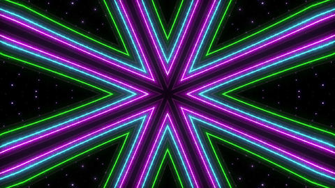 Neon tube Kaleidoscope c C 2h HD Animation