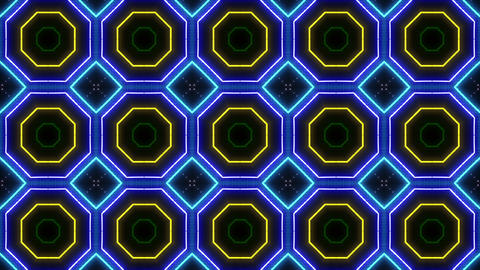 Neon tube Kaleidoscope c D 2h HD Animation