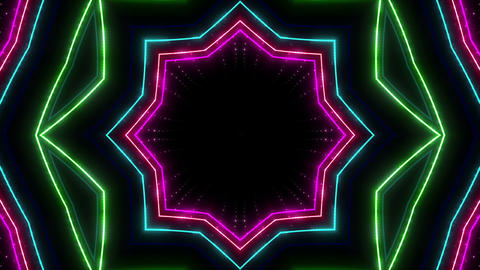 Neon tube Kaleidoscope c E 2h HD Animation