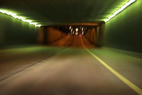 4k / 5k Traffic timelapse by night, car point of v Footage