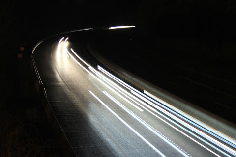 4k / 5k Traffic timelapse by night on a highway Footage