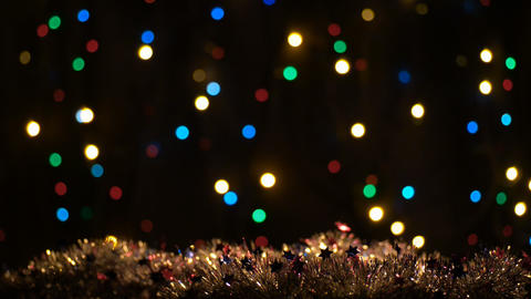 Holiday, Christmas, New Year Colorful Circles Vide stock footage