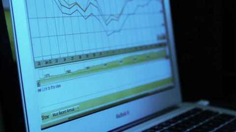 research the business data wavy chart,computer show financial stock digital Animation