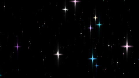 Loopable Shining Star Glitter Alpha HD stock footage