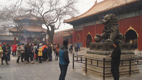 Beijing Lama Temple Yonghegong 02 Footage