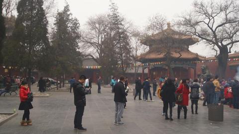 Beijing Lama Temple Yonghegong 04 Footage