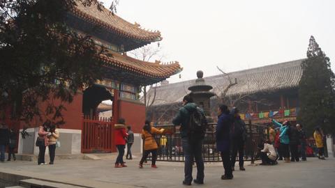 Beijing Lama Temple Yonghegong 05 Footage