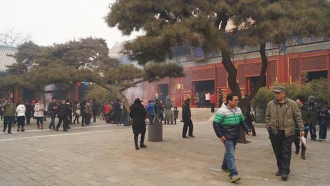 Beijing Lama Temple Yonghegong 07 Footage