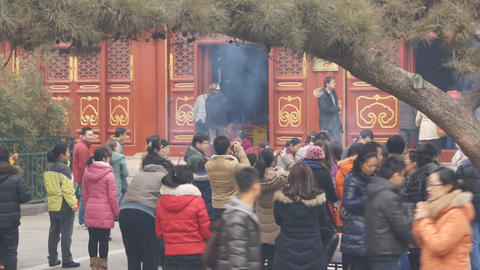 Beijing Lama Temple Yonghegong 09 Footage