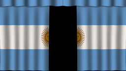 Argentina Flag - Paper Curtain stock footage