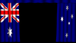 Australia Flag - Paper Curtain stock footage