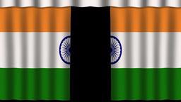 India Flag - Paper Curtain stock footage
