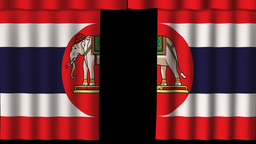 Thailand Flag - Paper Curtain stock footage
