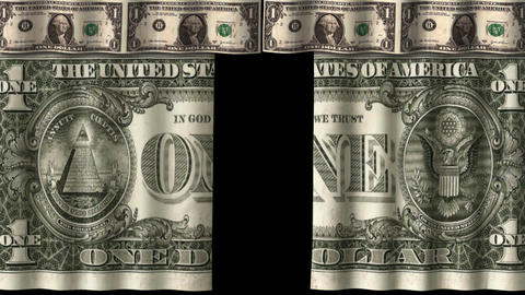 Money Curtain - 1 USD stock footage