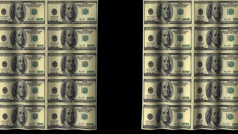 Money Curtain - 20 X 100 Dollars stock footage