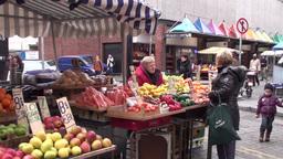 Moore Street Dublin Ireland 2 Footage