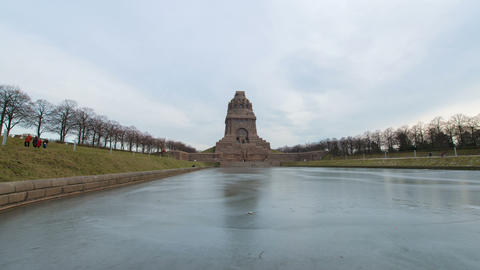 Germany Monument Battle Nations Hyperlapse 11296 stock footage