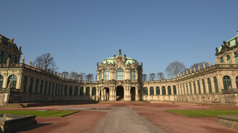 4k UHD Germany Zwinger Palace Hyperlapse Vertigo stock footage