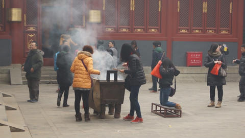 Beijing Lama Temple Yonghegong 14 Footage
