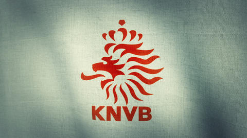 Netherlands National Football Team Flag Textured stock footage