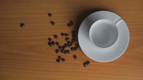Coffee beans in a cup and crawl welded Footage