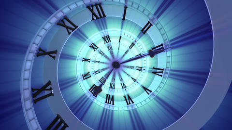 Looping Spiral clock (4k) Looping animation Animation