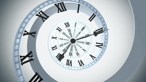 Spiral Clock (4k) Invert Looping Animation stock footage