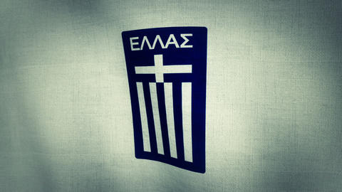 Greece National Football Team Flag Textured (Loop- Animation