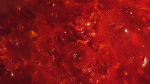Red Tomato Sauce Stew stock footage