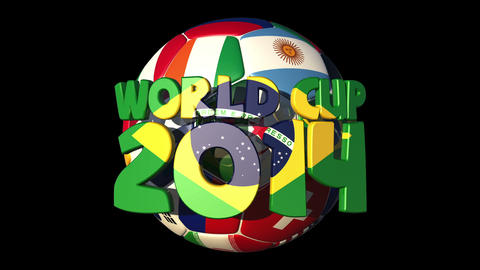 Rotating World Countries Football Text World Cup 2 stock footage