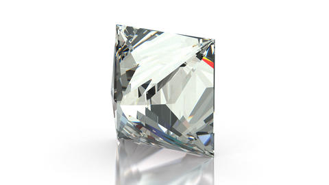 Princess Cut Diamond stock footage