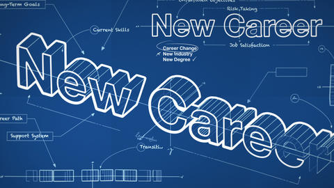Blueprint For A New Career stock footage